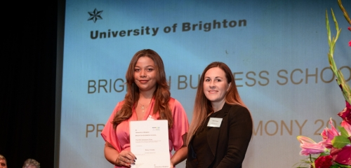 PDT Solicitors Prize awarded at the Brighton Business School prizegiving ceremony 2019