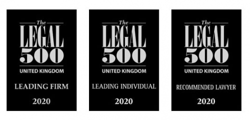 PDT Leading Law Firm in the Legal 500 2020 listings
