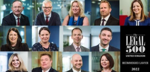PDT Solicitors is ranked a Leading UK Firm by The Legal 500 2022 in 8 practice areas