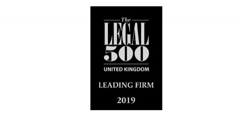 PDT Solicitors listed as a Legal 500 leading firm 2019 for Corporate & Commercial, Banking & Finance, Commercial Property, Insolvency & Corporate Recovery and Health