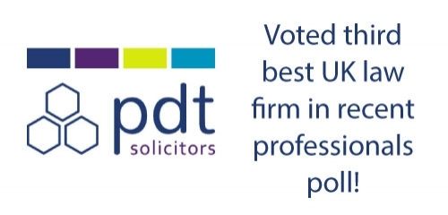 PDT Solicitors voted third best UK law firm in recent professionals poll
