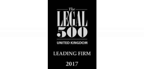 The Legal 500 - PDT Solicitors rank as a Leading Firm 2017
